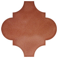 Terracotta Arabesque Lantern Tile
