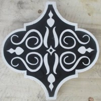 Black Arabesque Encaustic Tile