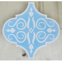 SALE - Blue Arabesque Encaustic Tile