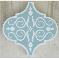 SALE - Green Arabesque Encaustic Tile