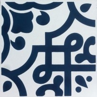 Moroccan Blue Encaustic Tile