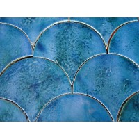 Deep Blue Sea Fish Scale Tile