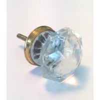 Annette Large Glass Knob Brass