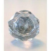 Annette Large Glass Knob Silver