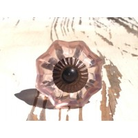 Blush Glass Antique Knob