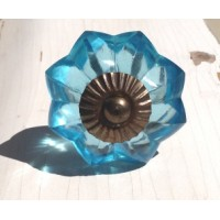 Celeste Glass Antique Knob