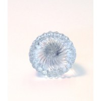 Lauren Glass Silver Knob