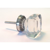Michael Glass Square Knob Silver