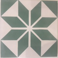 Moroccan Green Encaustic Tile