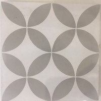 Petulia Grey Encaustic Tile
