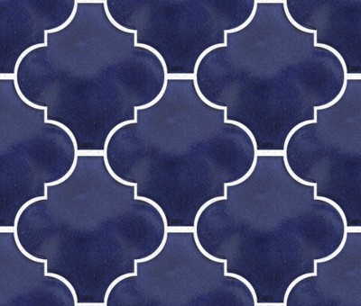 Cobalt Blue Arabesque Lantern Tile