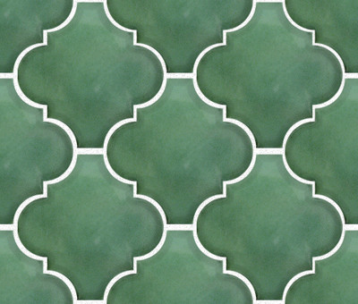 Green Arabesque Lantern Tile
