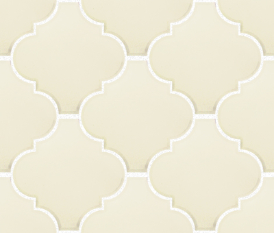 Pure White Arabesque Lantern Tile