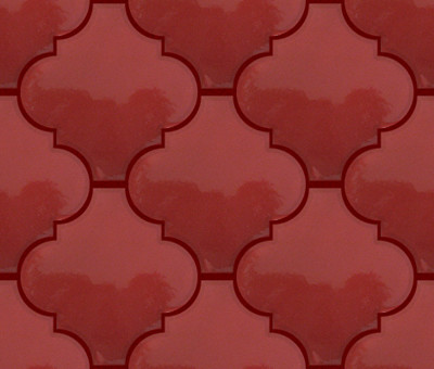 Red Arabesque Lantern Tile