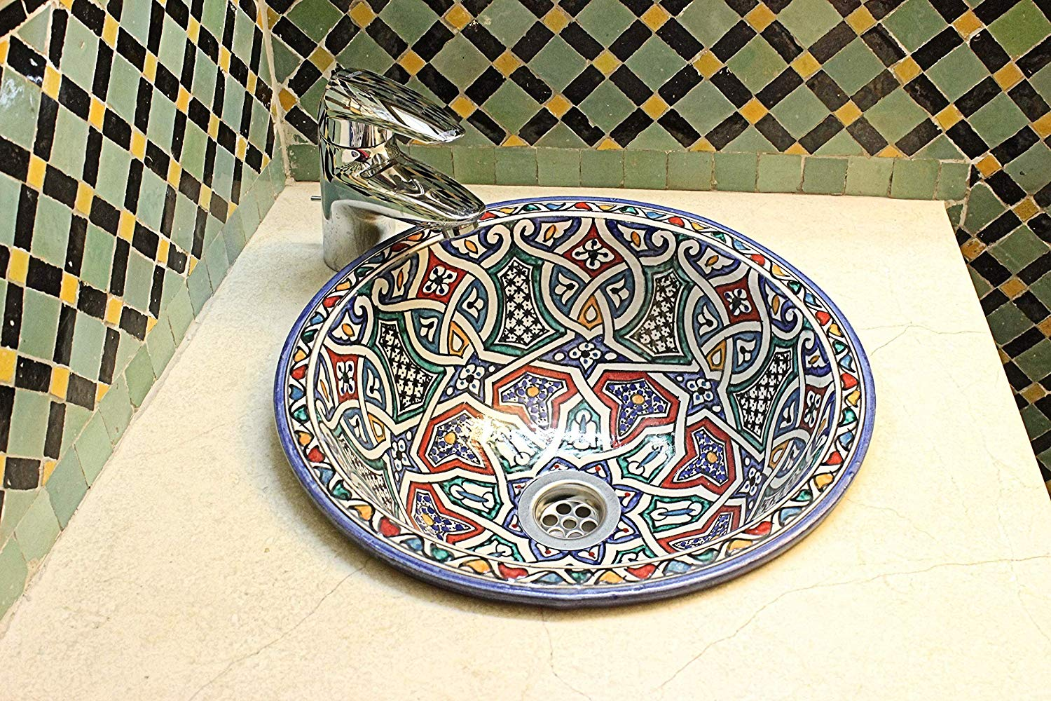 Moroccan Sink 5 (Pattern on Inside)